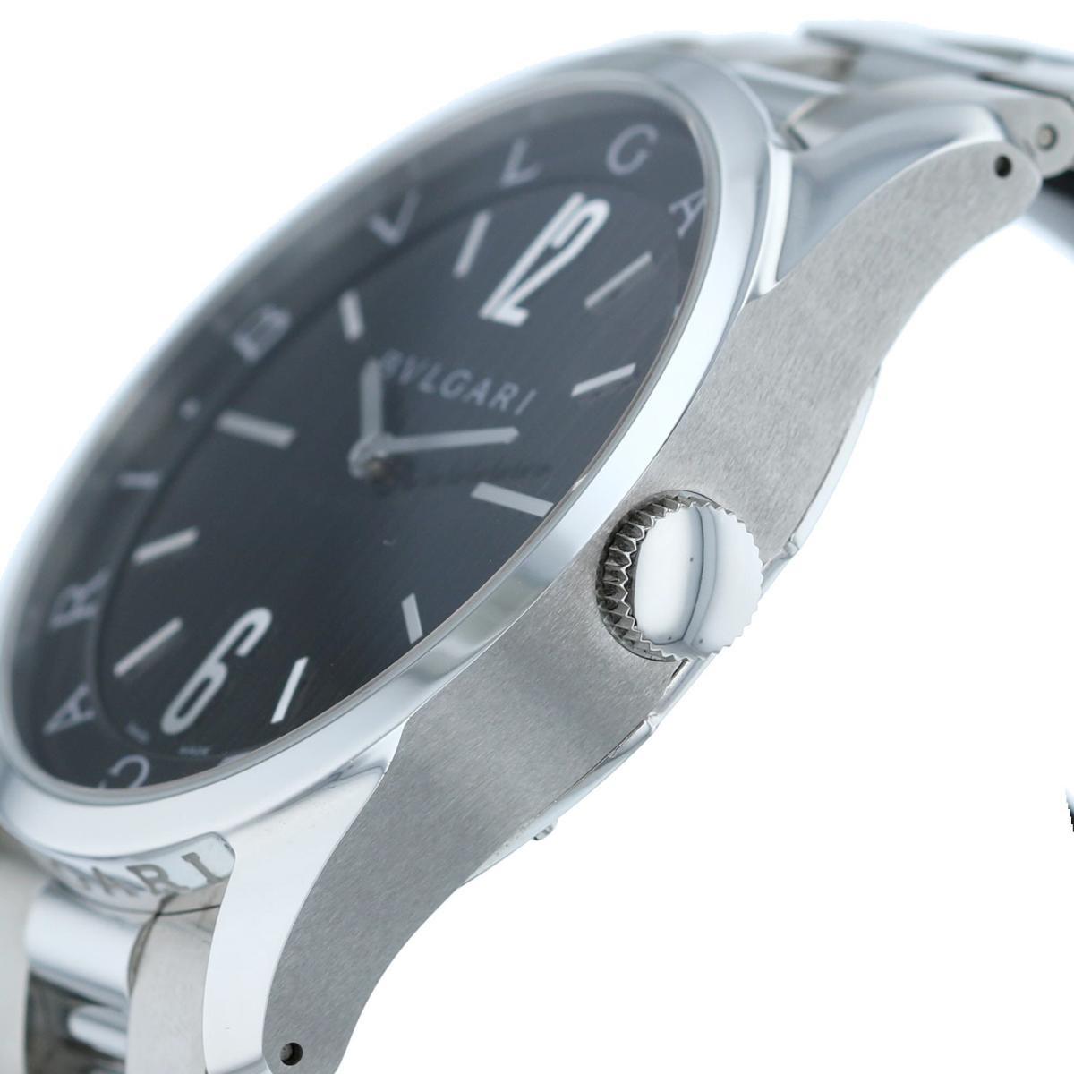 【中古】 BVLGARI (ブルガリ) ソロテンポ 42� 時計 クオーツ/メンズ  Black ST42S used:A
