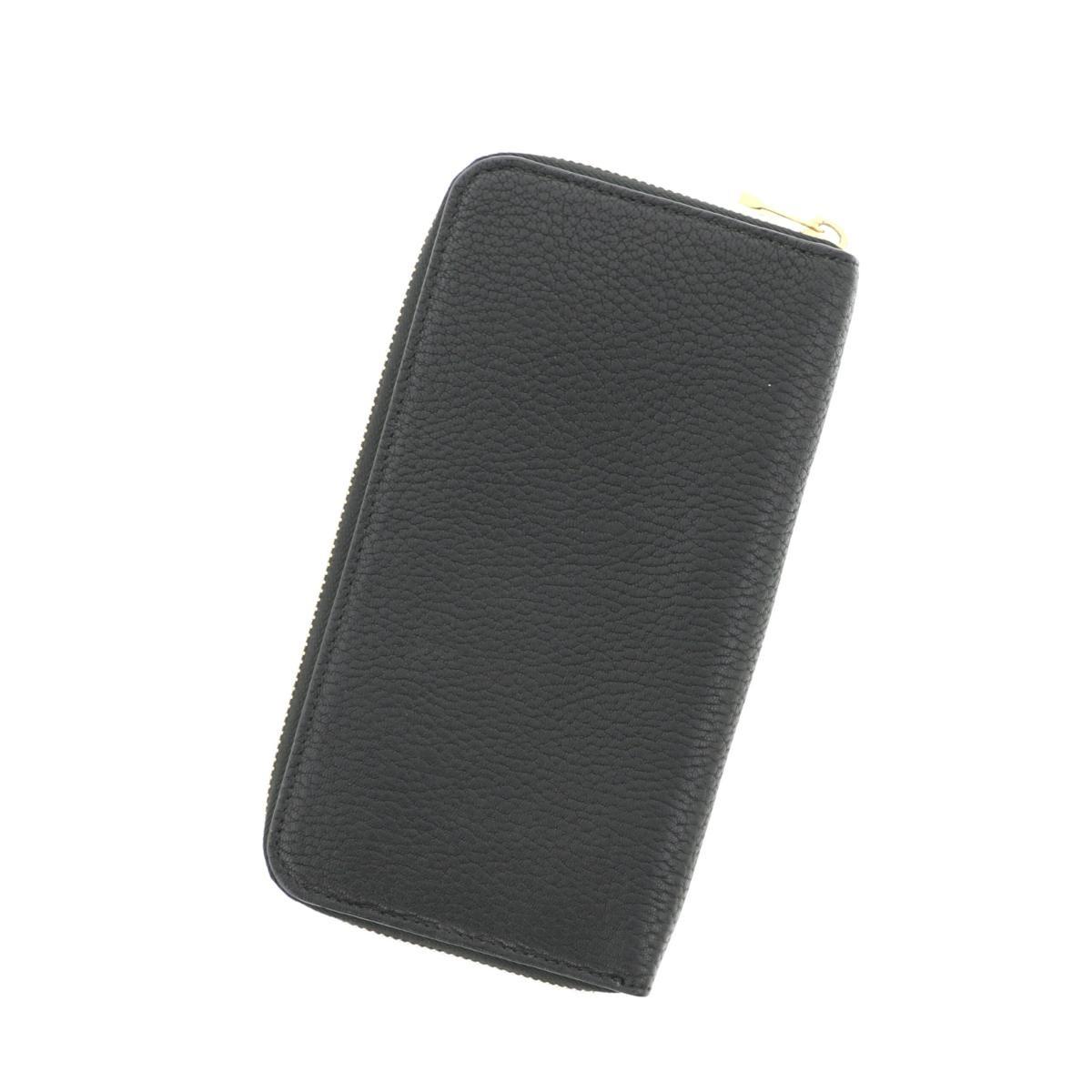 【中古】 CHLOE クロエ ラウンドファスナー 長財布 財布 長財布(小銭入有)  Black/ブラック 3P0780 used:B