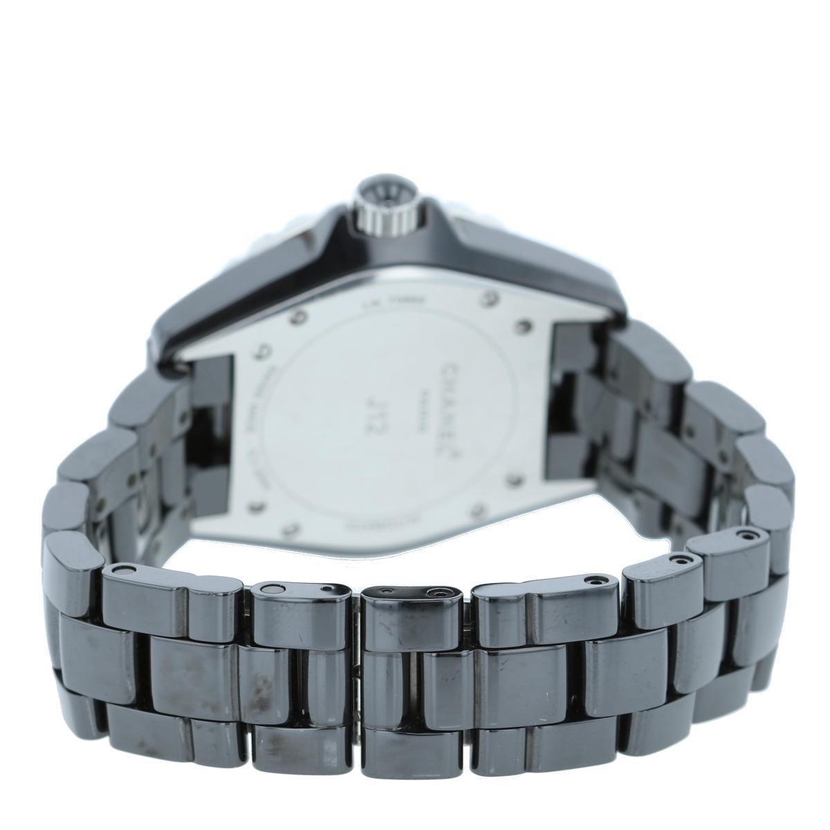 【お値下げ品】【即日発送・水曜定休日・木曜発送】CHANEL (シャネル) J12 38� 12Pダイヤモンド 時計 自動巻き/メンズ J12/Black Black/ブラック H1626 used:B