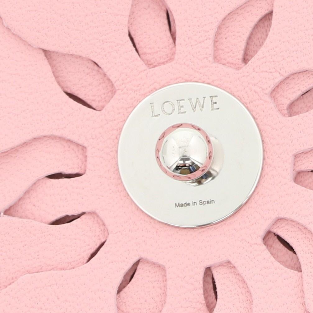 【即日発送・水曜定休日・木曜発送】【美品】【中古】【オススメ】【RI】 LOEWE (ロエベ) スタッドフラワー 小物  Bag Charm Pink/ピンク N691232X02 used:A