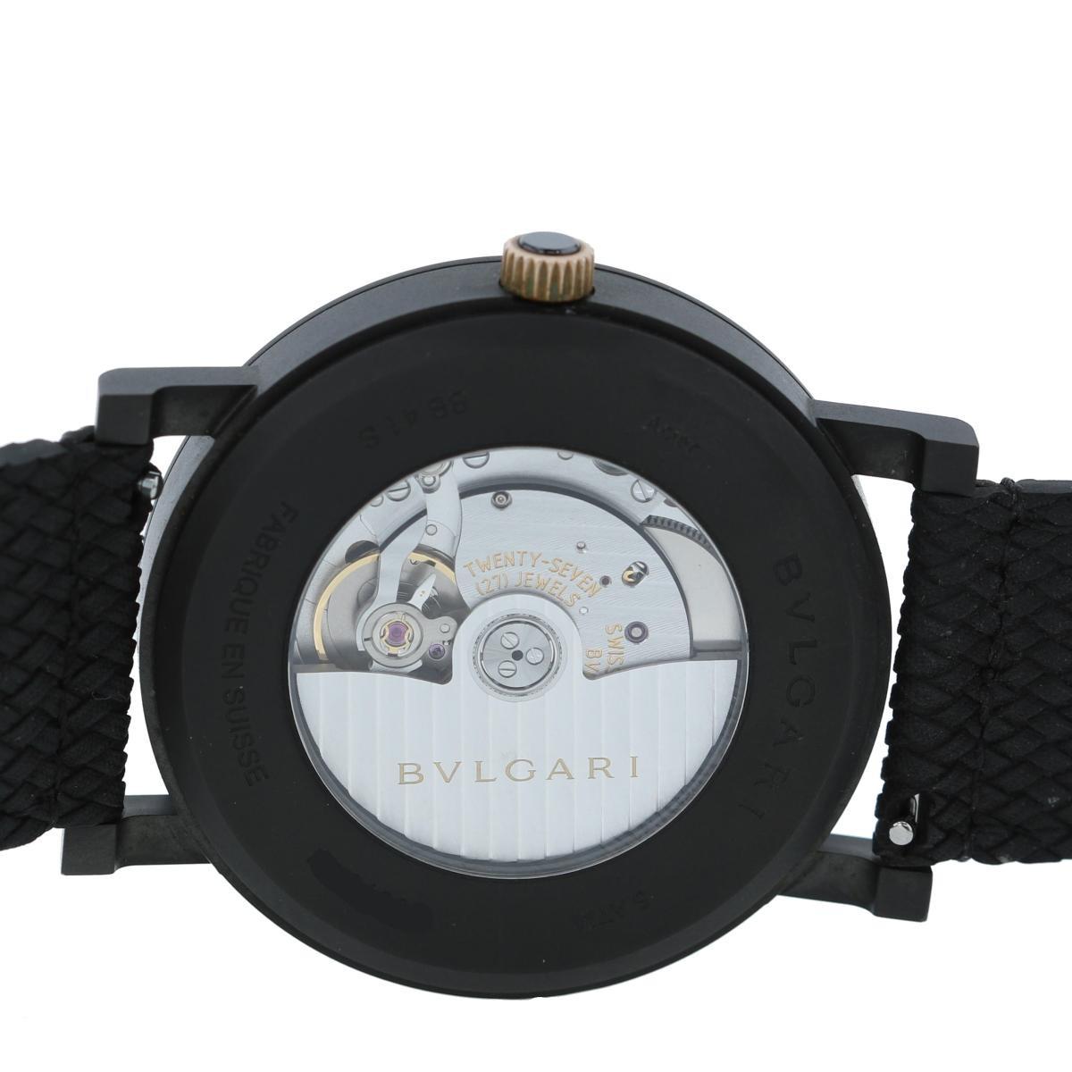 【お値下げ品】【中古】 BVLGARI (ブルガリ) ブルガリブルガリソロテンポ 時計 自動巻き/メンズ ブルガリブルガリ Black BB41BBCLD used:A