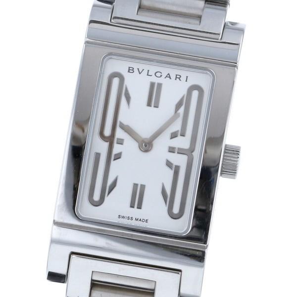 【最終値下げ】【中古】BVLGARI (ブルガリ) レッタンゴロ 39� 時計 クオーツ/レディース RETTANGOLO White/ホワイト RT39S used:B