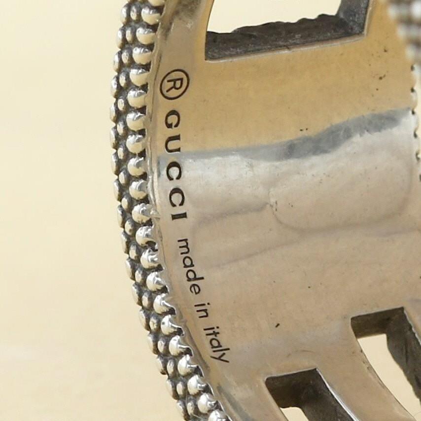 【最終値下げ品】【中古】GUCCI グッチ スクエアG シルバーリング ブランドジュエリー 指輪  Silver/シルバー ?551918 used:B