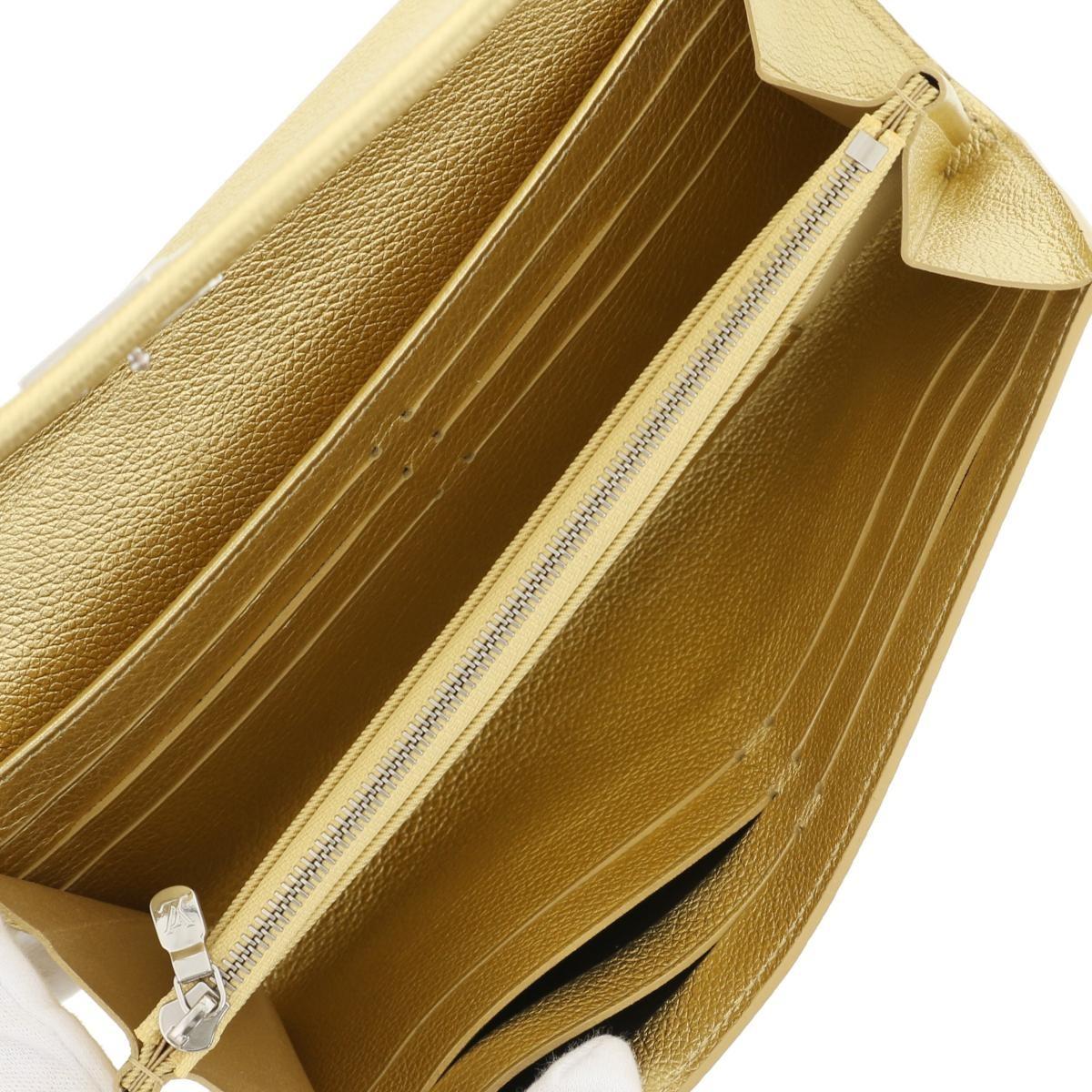 【即日発送・水曜定休日・木曜発送】【美品】【中古】【オススメ】【RI】 LOUIS VUITTON (ルイヴィトン) ポルトフォイユ・ロックミー 財布 長財布(小銭入有) lockme Gold/ゴールド M62077 used:A