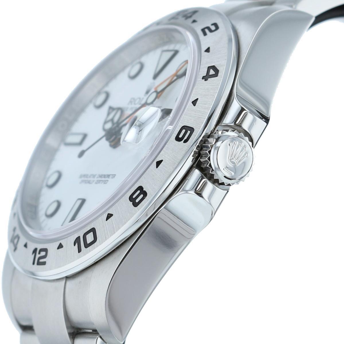 【中古】ROLEX ロレックス エクスプローラーII White 時計 自動巻き/メンズ EXPLORER� White/ホワイト 216570 ランダム番 used:A