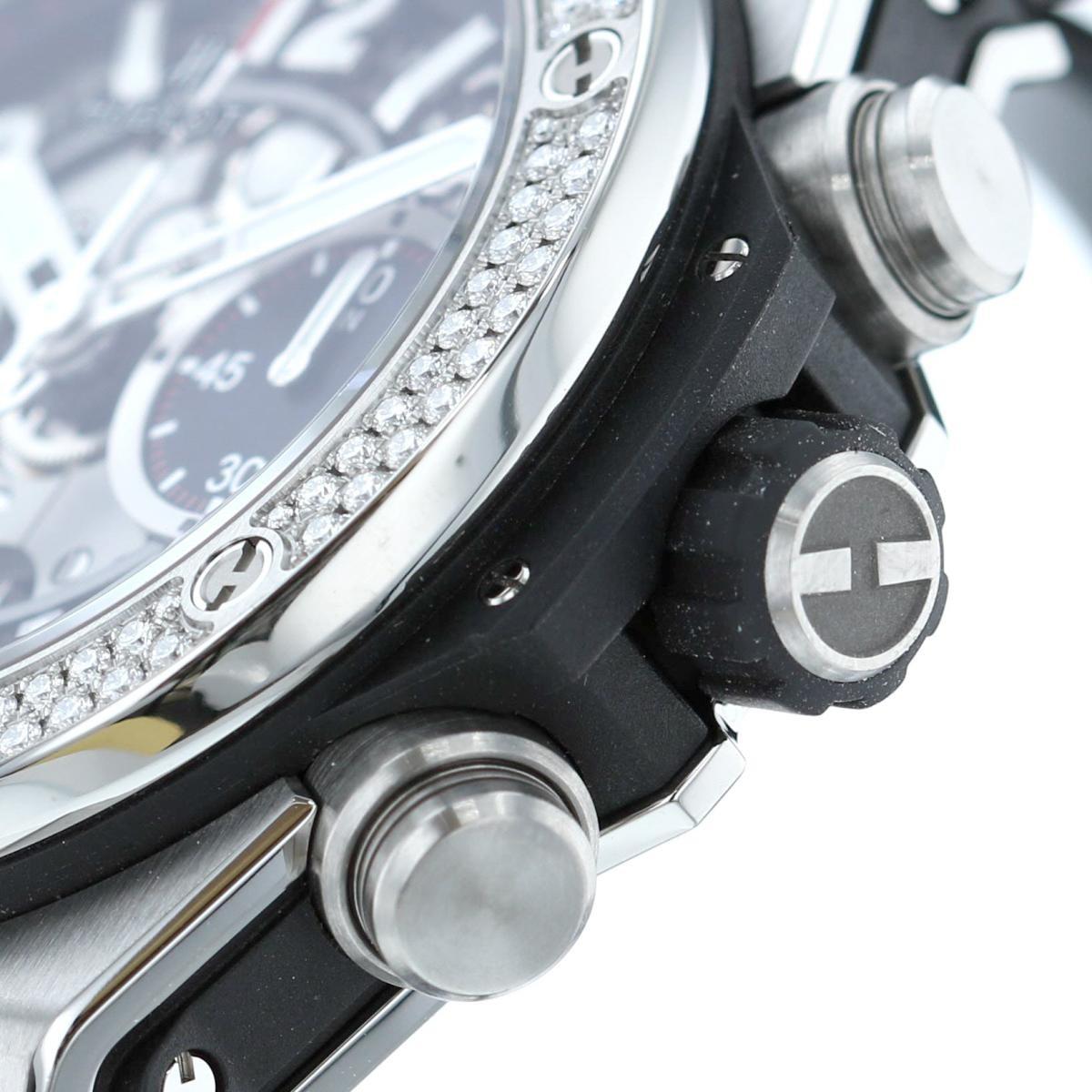 【中古】 HUBLOT (ウブロ) ビッグバン ウニコ チタニウム ダイヤモンド 時計 自動巻き/メンズ  Black 441.NX.1170.RX.1104 used:A