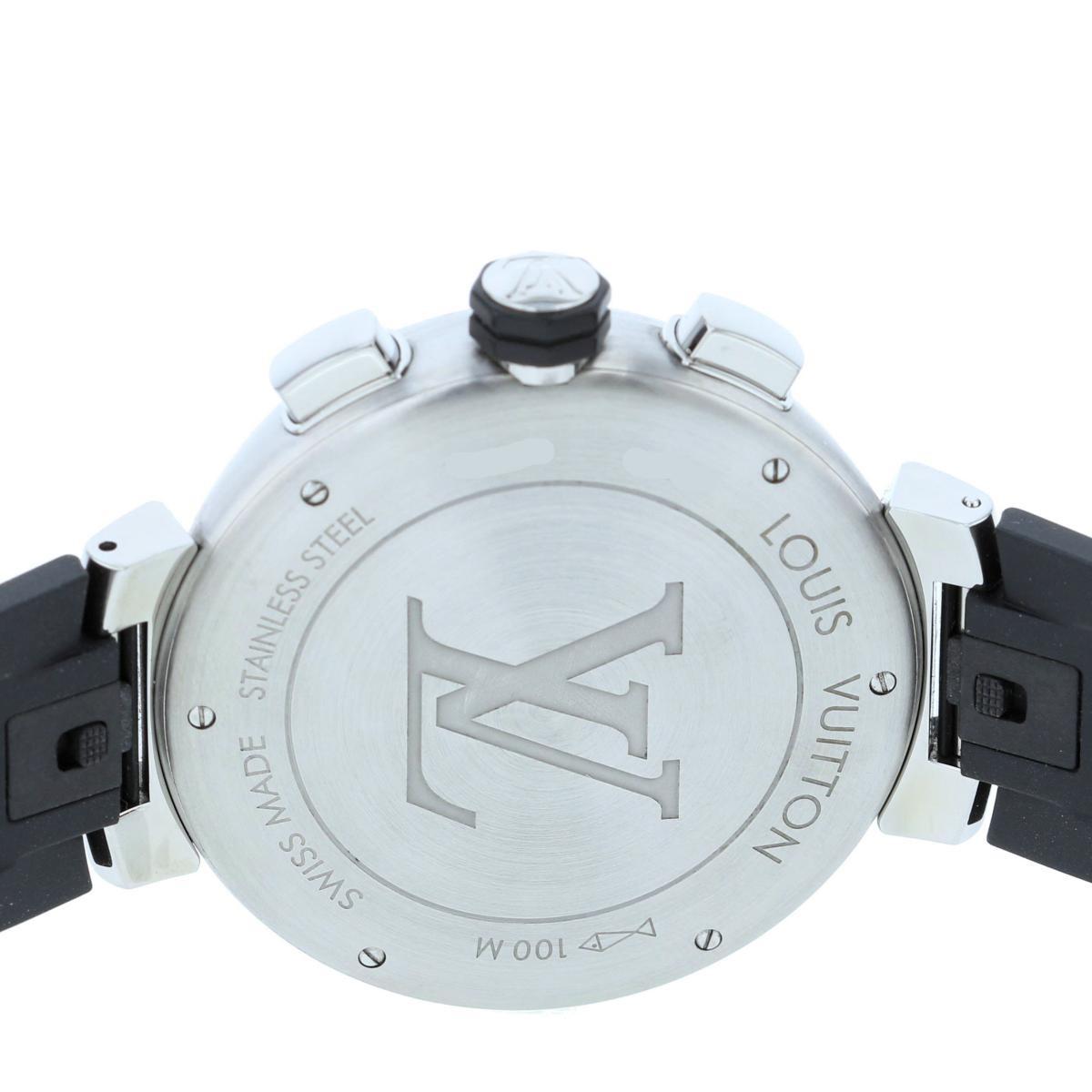 【お値下げ品】【即日発送・水曜定休日・木曜発送】【美品】【中古】【RI】 LOUIS VUITTON (ルイヴィトン) タンブール レガッタ クロノグラフ 時計 自動巻き/メンズ TAMBOUR Blue/ブルー Q102V used:A