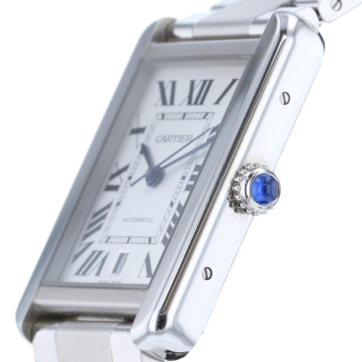 【お値下げ品】【即日発送・水曜翌日発送】【美品】【中古】 Cartier (カルティエ) タンクソロXL 時計 自動巻き/メンズ タンクソロ Silver/シルバ- W5200028 used:A