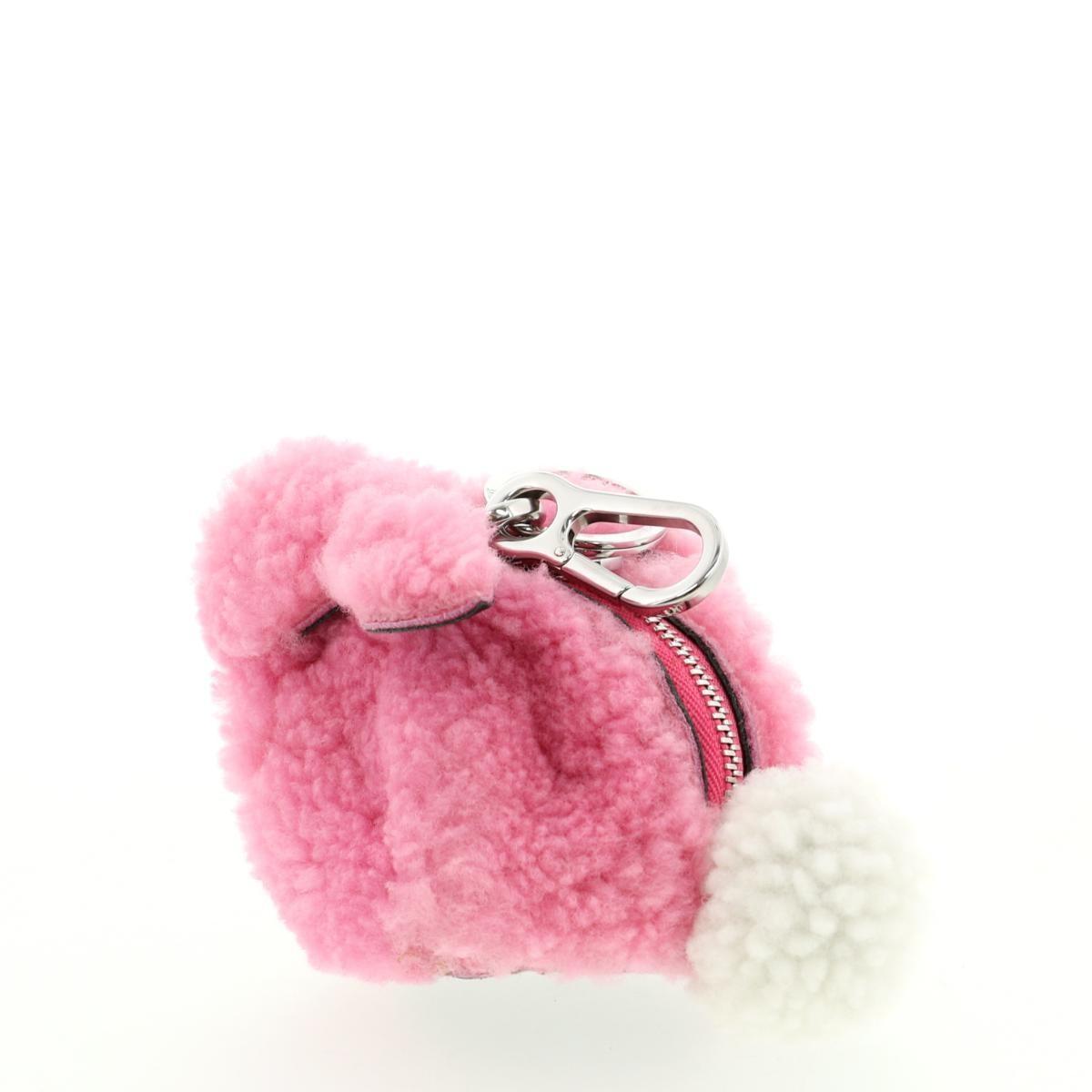 【最終処分セール】【美品】【中古】LOEWE (ロエベ) バニー チャーム 財布 小銭入れ/コインケース Bunny Team Pink/ピンク 121.67.T40 used:A