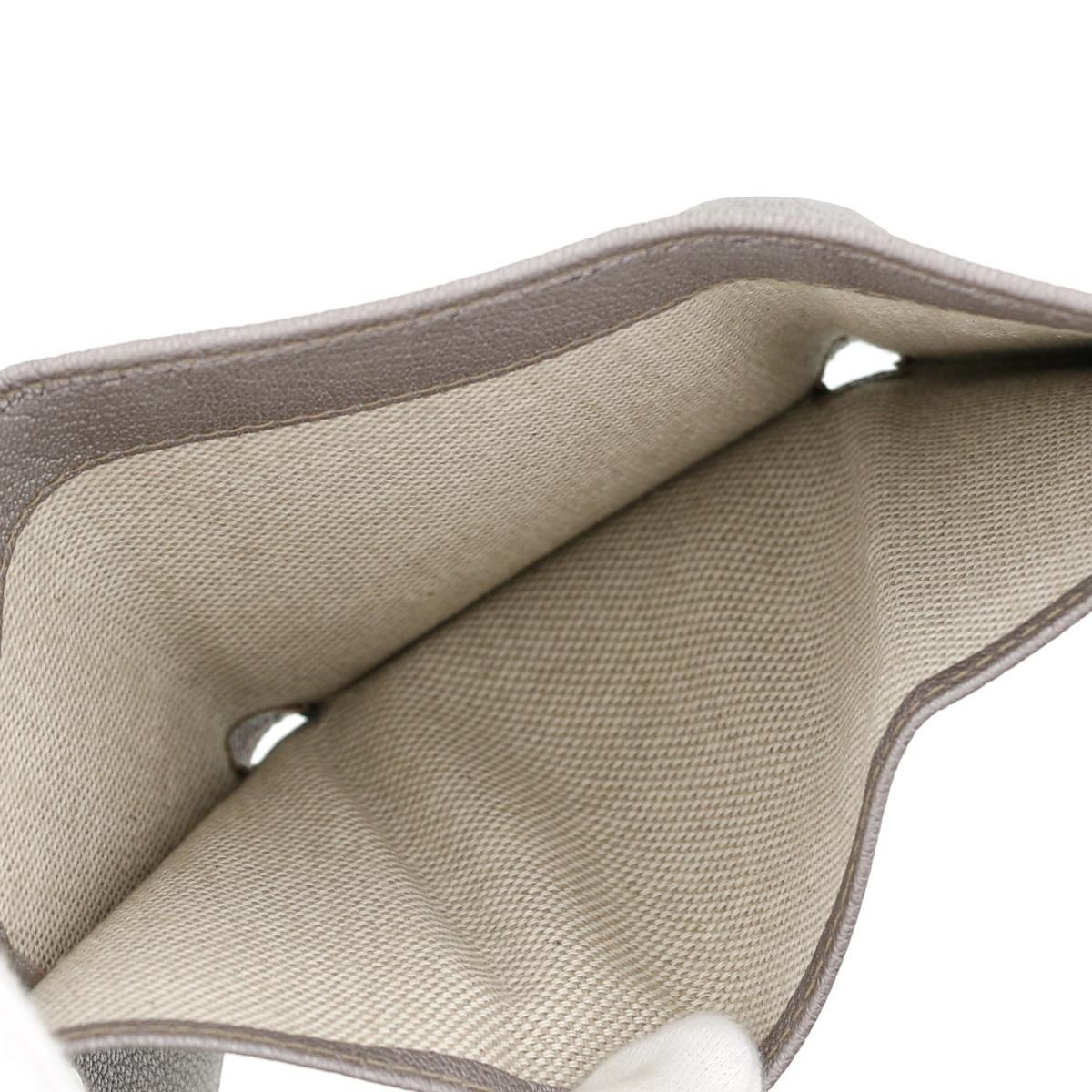 【お値下げ品】【即日発送・水曜定休日・木曜発送】【美品】【中古】【RI】JIMMY CHOO (ジミーチュー) 三つ折り コンパクトウォレット 財布 二つ折り財布(小銭入有) NEMO Gray/グレー
