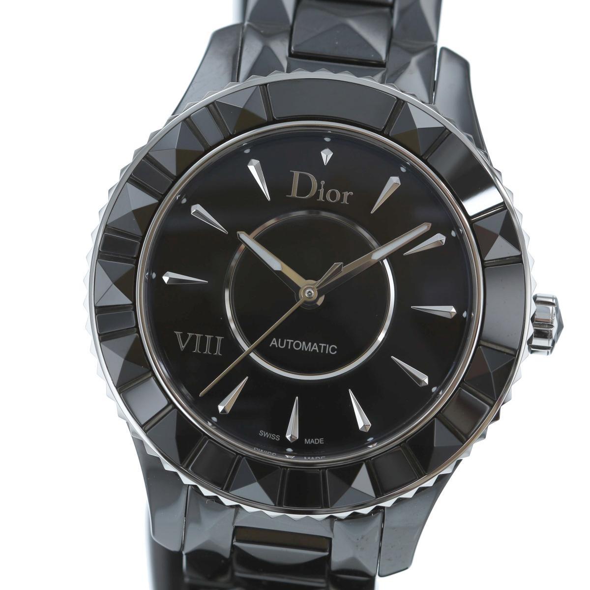 【SALE】【中古】 Dior ディオール VIII 時計 自動巻き/メンズ  Black/ブラック セラミック CD1245EC001 used:A