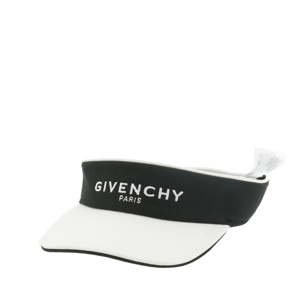 【即日発送・水曜定休日・木曜発送】【美品】【中古】【RI】 GIVENCHY (ジバンシー) サンバイザー 服飾 帽子/手袋  Black・White