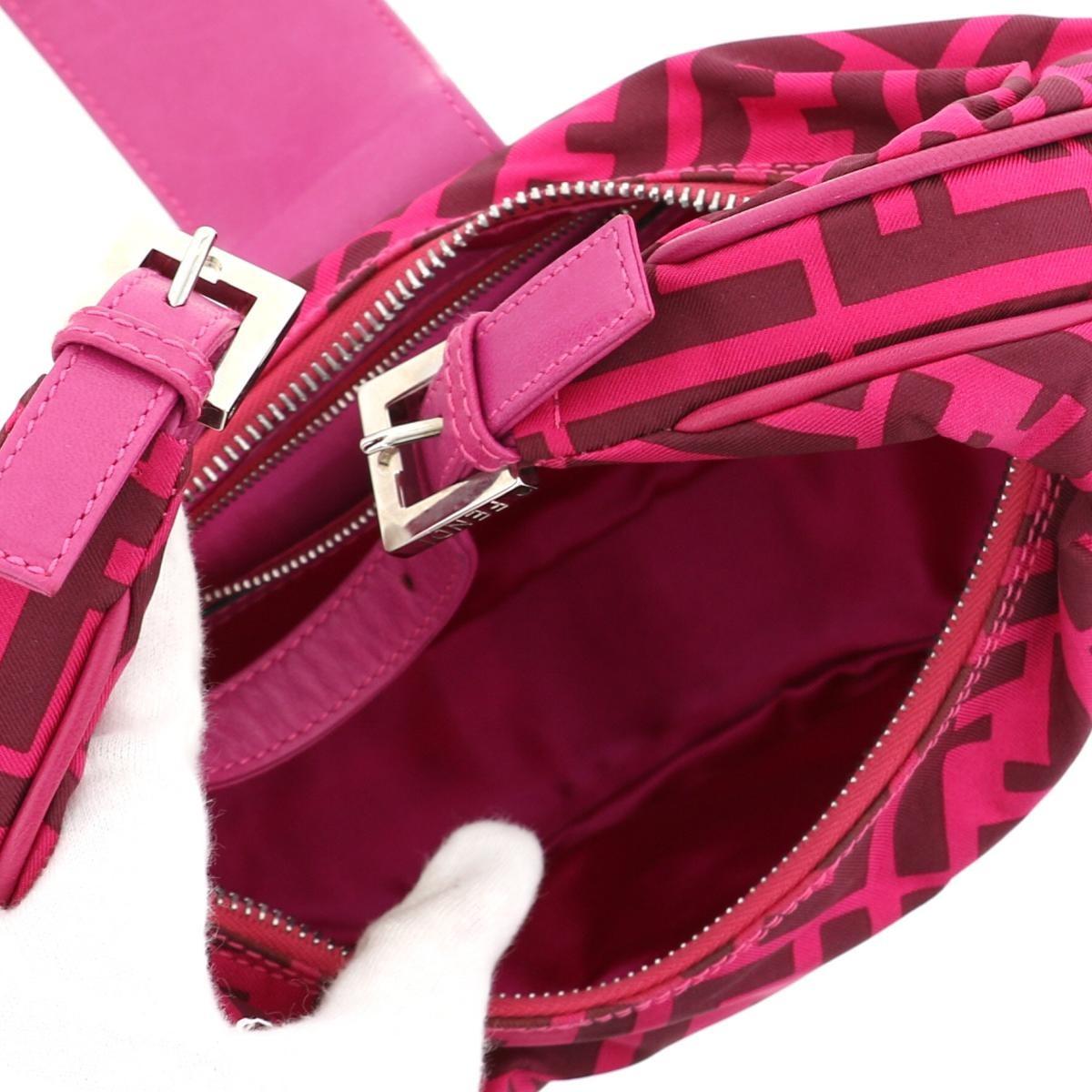 【値下げ中】【美品】フェンディ ズッカ ショルダーバッグ ピンク FENDI Zucca Shoulder Bag Pink