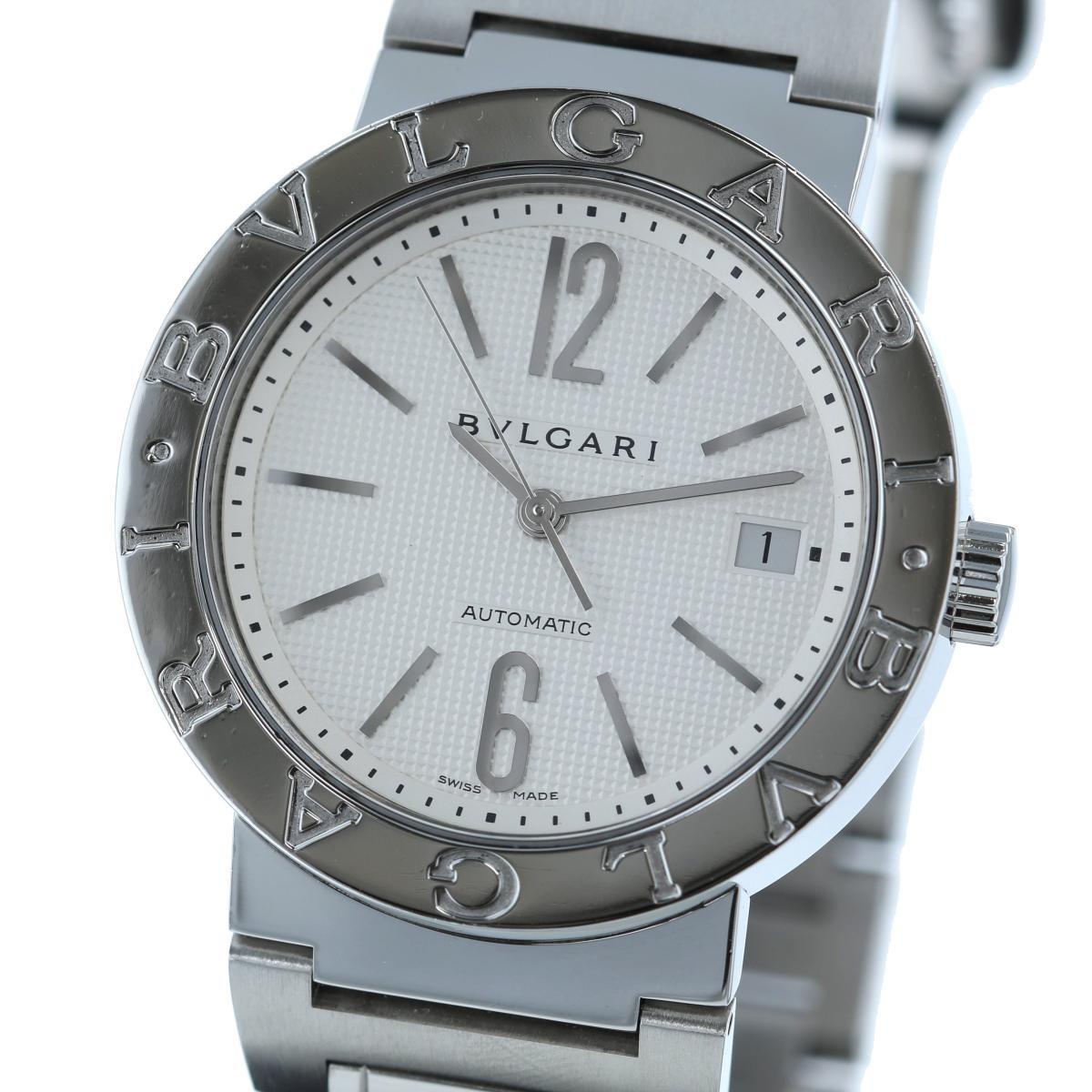 【最終値下げ】【中古】BVLGARI (ブルガリ) ブルガリブルガリ 38� 時計 自動巻き/メンズ  Silver/シルバー BB38WSSD/N used:A