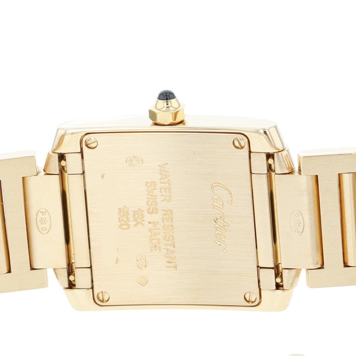 【即日発送・水曜定休日・木曜発送】【美品】【RI】Cartier (カルティエ) タンクフランセーズSM 時計 クオーツ/レディース  White/ホワイト W50002N2 used:A
