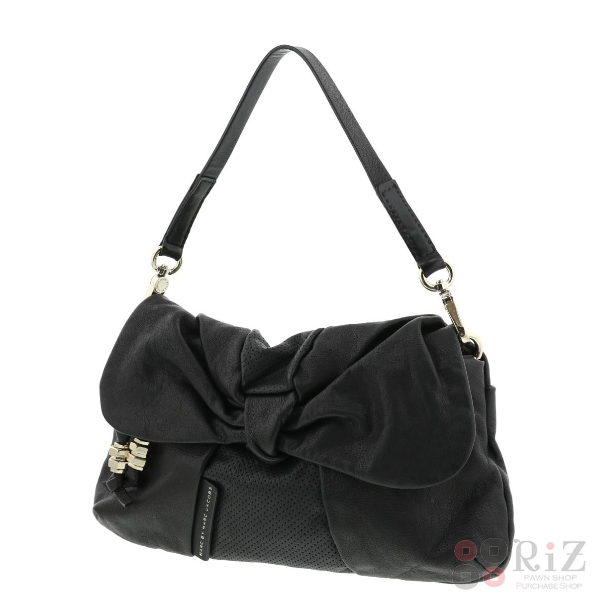 【中古】MARC BY MARC JACOBS (マークバイマークジェイコブス) ワンショルダーバッグ バッグ ショルダー/メッセンジャーバッグ Shoulder Bag Black/ブラック  used:B