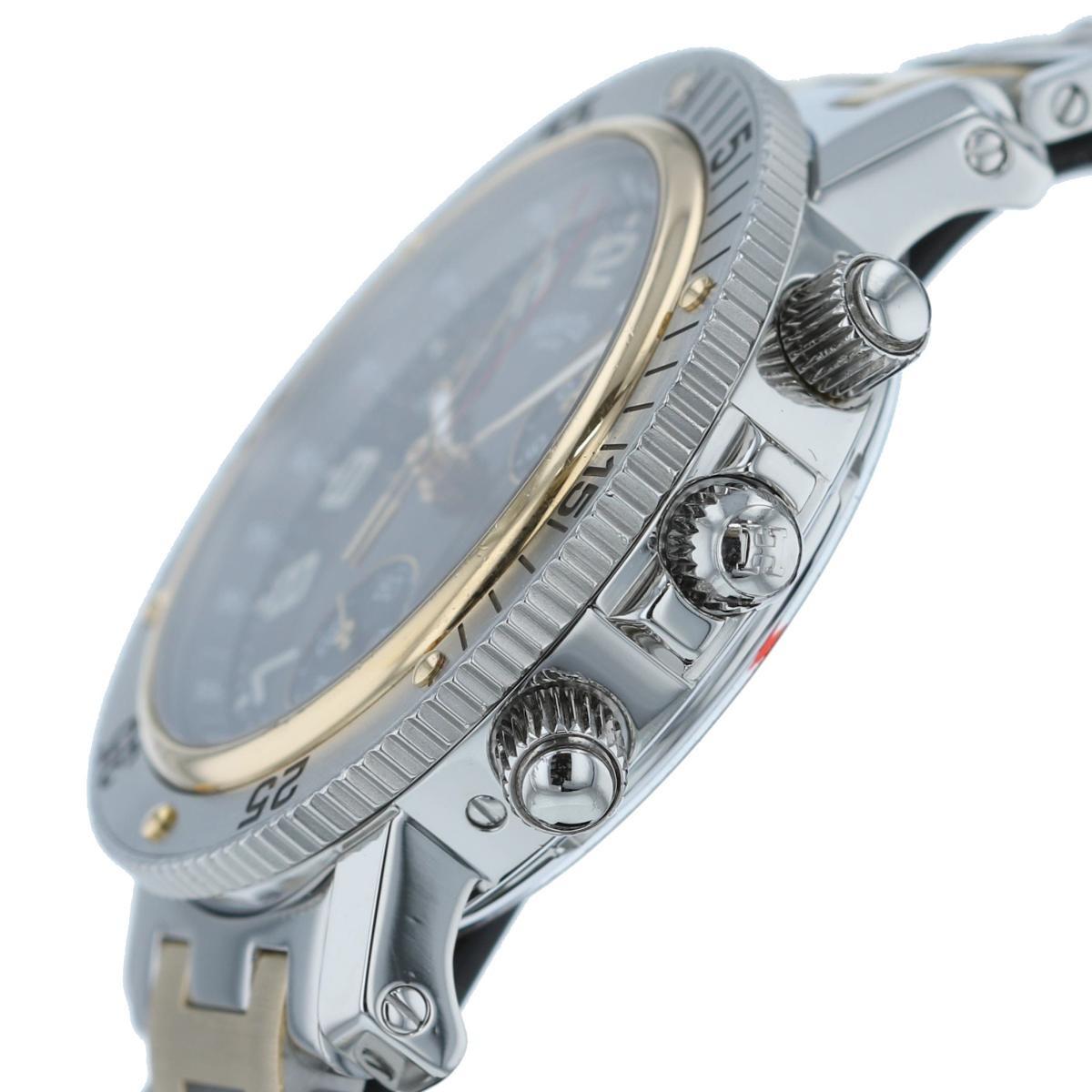 【中古】エルメス クリッパー ダイバー クロノグラフ 39� メンズ クオーツ 時計 HERMES Clipper Diver Chronograph 39mm Mens Quartz Watch CL2.920
