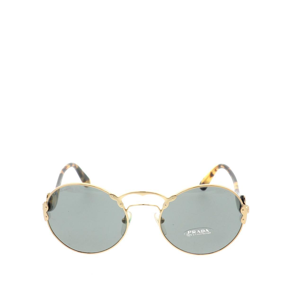【中古】 PRADA (プラダ) サングラス 服飾 眼鏡/サングラス Sunglasses Gold FREE used:B