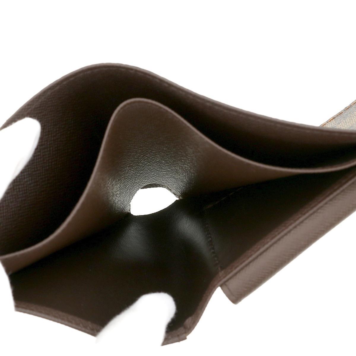 【中古】 LOUIS VUITTON (ルイヴィトン) ポルトビエ・カルトクレディモネ 財布 二つ折り財布(小銭入有) Damier Ebene ダミエ/エベヌ N61665 used:B