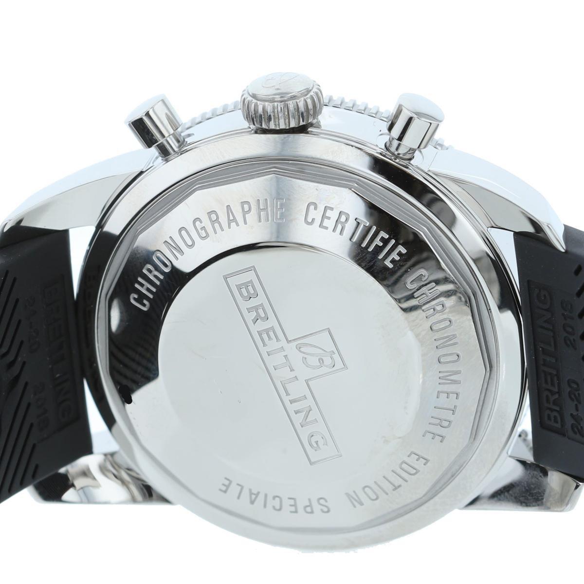 【中古】BREITLING (ブライトリング) スーパーオーシャン ヘリテージ クロノグラフ 時計 自動巻き/メンズ  Black/ブラック A13320/A1332024/ used:A