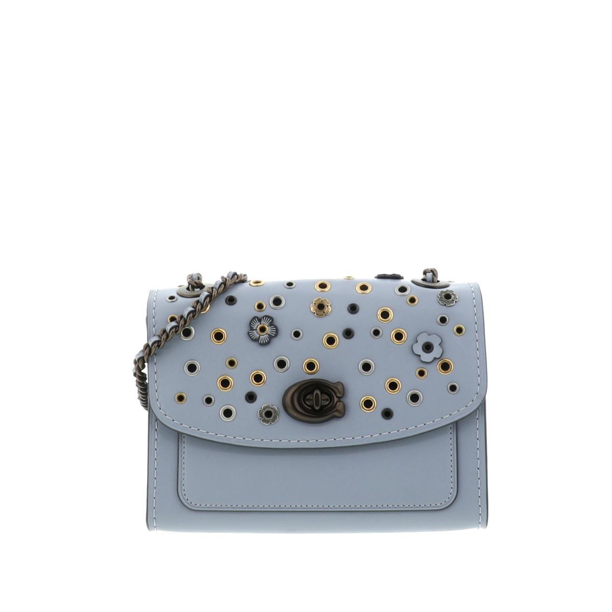 【最終値下げ】【美品】コーチ パーカー 18 ウィズ スキャッタード リベット ショルダーバッグ COACH Parker 18 with Scattered Rivets Shoulder Bag 69508 used:A