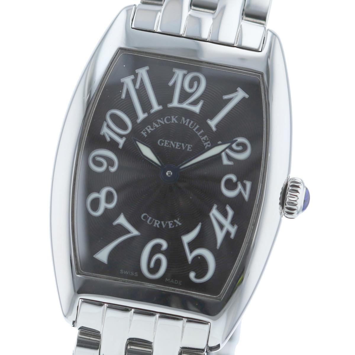 【中古】 FRANCK MULLER (フランクミュラー) トノーカーベックス 時計 クオーツ/レディース tonneau curvex Black 1752QZ used:A
