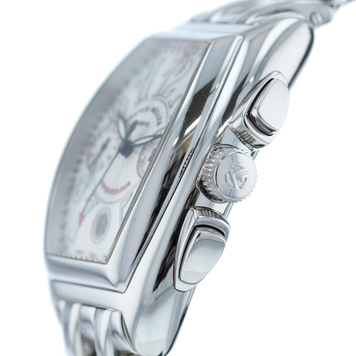 【中古】FRANCK MULLER (フランクミュラー) コンキスタドール クロノグラフ 時計 自動巻き/メンズ  Silver/シルバー 8001CC used:A