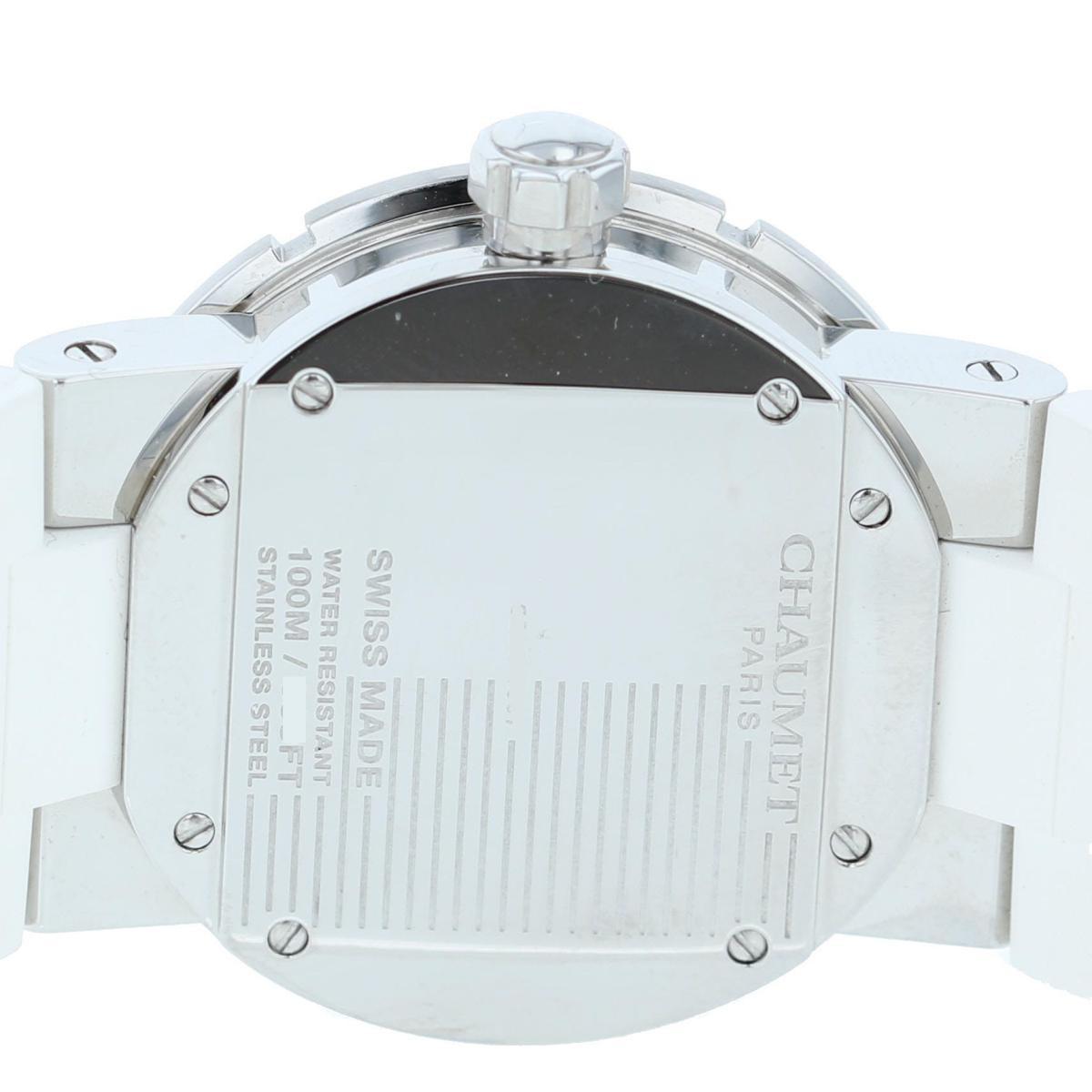 【最終値下げ】【中古】CHAUMET (ショーメ) クラスワン MM Diamond 33� 時計 クオーツ/レディース CLASS ONE White/ホワイト W17224-33E used:A