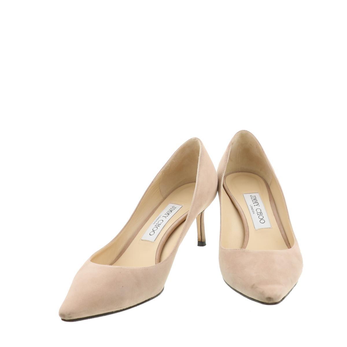 【お値下げ品】【中古】JIMMY CHOO (ジミーチュー) ハイヒール 靴 靴/レディース  Beige/ベージュ