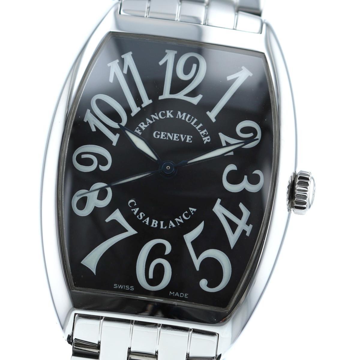 【最終値下げ】【中古】FRANCK MULLER (フランクミュラー) カサブランカ Black 時計 自動巻き/メンズ Casablanca Black/ブラック 6850CASA used:A