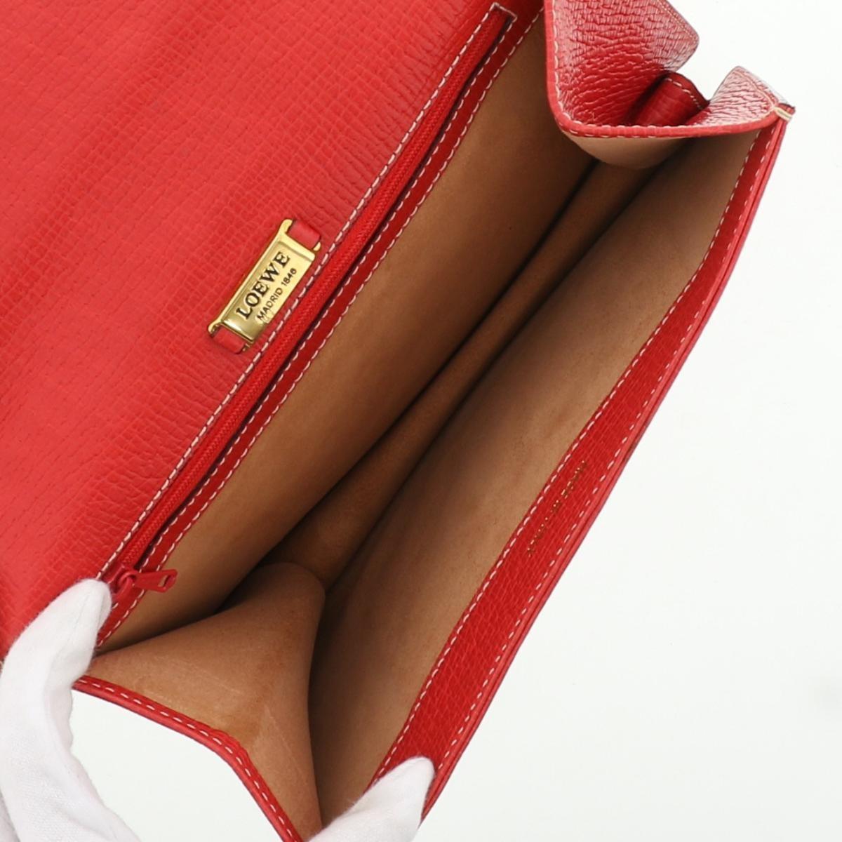 【中古】 LOEWE (ロエベ) クラッチバッグ バッグ セカンドバッグ/ポーチ/クラッチ  レッド
