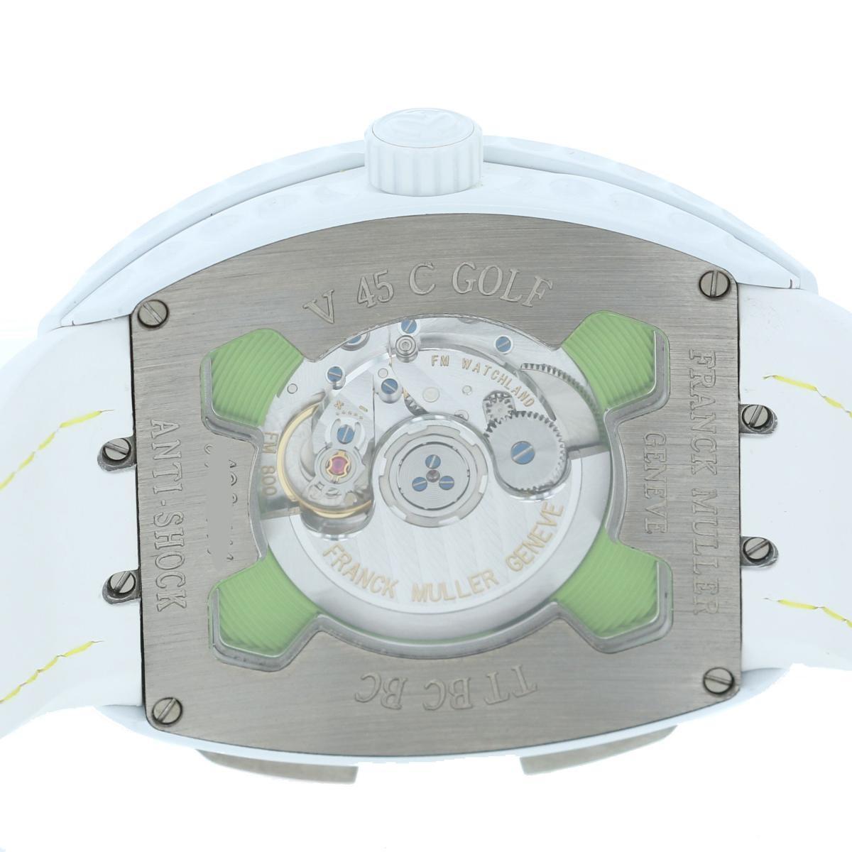 【最終値下げ品】【即日発送・水曜定休日・木曜発送】【美品】【オススメ】FRANCK MULLER (フランクミュラー) ヴァンガード バックスイング 時計 自動巻き/メンズ VANGUARD White/ホワイト V45C GOLF used:A