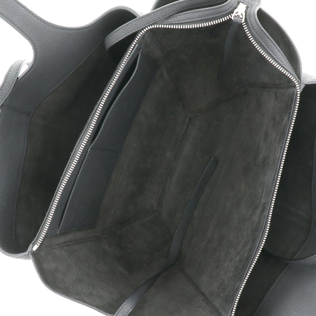 【中古】CELINE セリーヌ トリフォールド スモール トートバッグ バッグ トートバッグ  Black/ブラック 179043AIK used:B