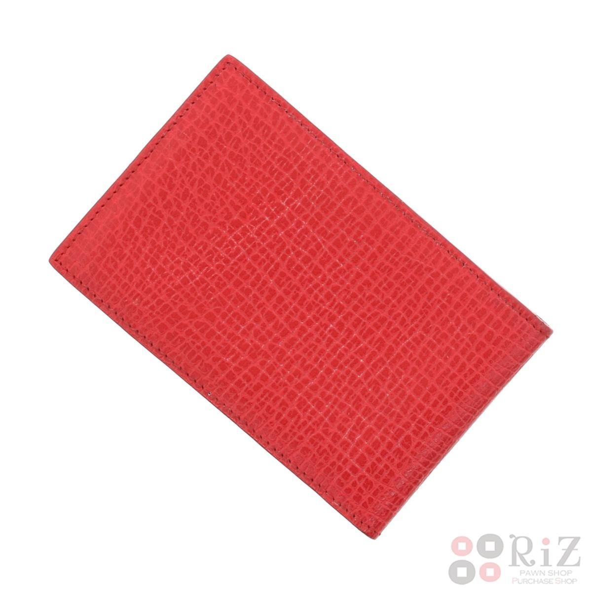 【中古】LOEWE (ロエベ) カードケース 小物 名刺入れ/カードケース  Red/レッド  used:B