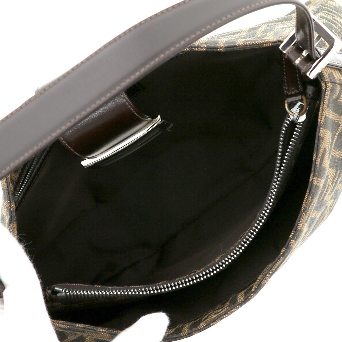 【美品】【セール中】フェンディ ヴィンテージ ズッカ ショルダーバッグ ブラウン FENDI Vintage Zucca Shoulder Bag Brown