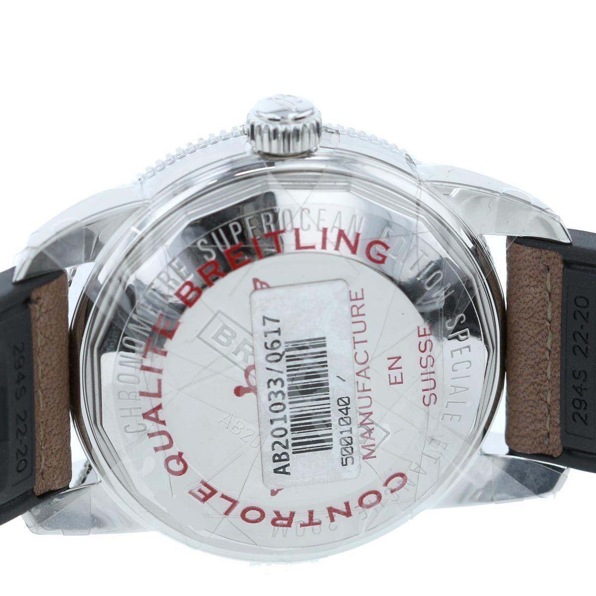 【美品】【中古】BREITLING ブライトリング スーパーオーシャン ヘリテージ � 42 時計 自動巻き/メンズ  ブラウンダイアル AB201033 unused:S