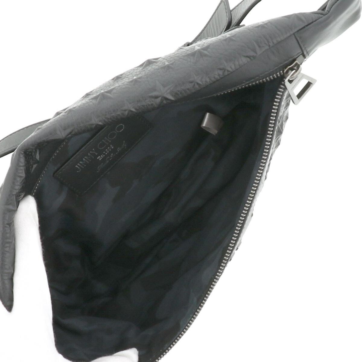 【お値下げ品】【即日発送・水曜定休日・木曜発送】【中古】JIMMY CHOO (ジミーチュー) DERRY ボディバッグ バッグ ウェスト/ボディバッグ DERRY Black/ブラック DERRYEMG used:B