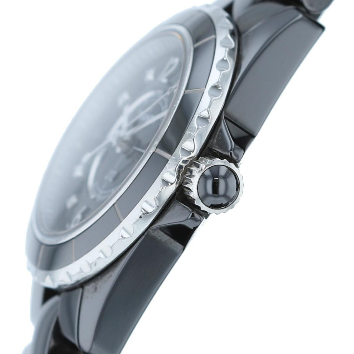 【SALE】【即日発送・水曜定休日・木曜発送】【中古】【RI】  CHANEL (シャネル) J12 29� 8Pダイヤモンド 時計 クオーツ/レディース J12/Black Black/ブラック H2569 used:B