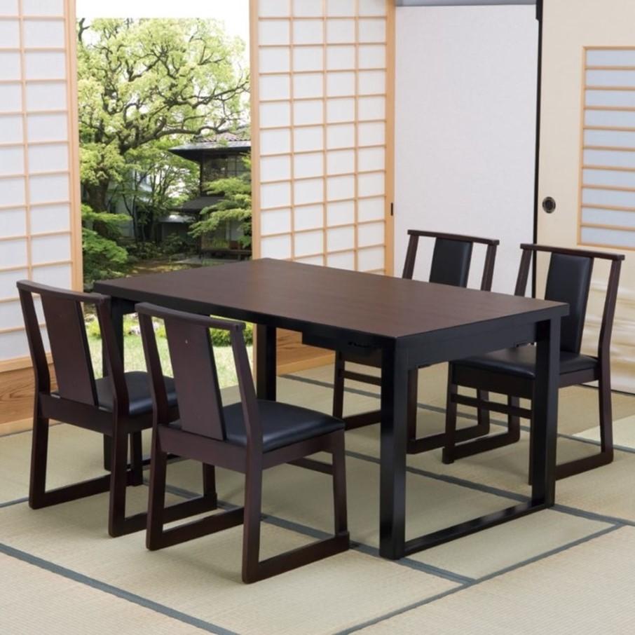 高級和風テーブル 4人膳 150×90×H70/H32.5cm (8本脚タイプ)