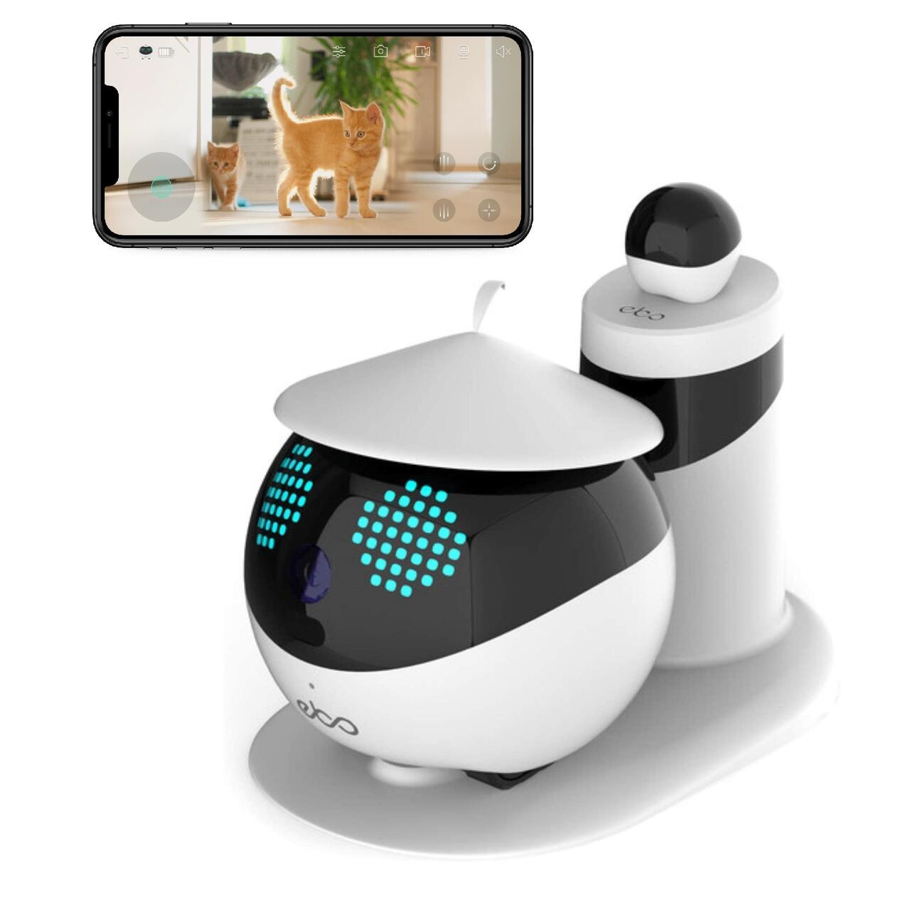 猫用ロボット Ebo イーボ 標準版 自走式 見守りカメラ 国内正規品 猫用品 ペットカメラ 猫おもちゃ ペットモニター 介護 高齢者 子供