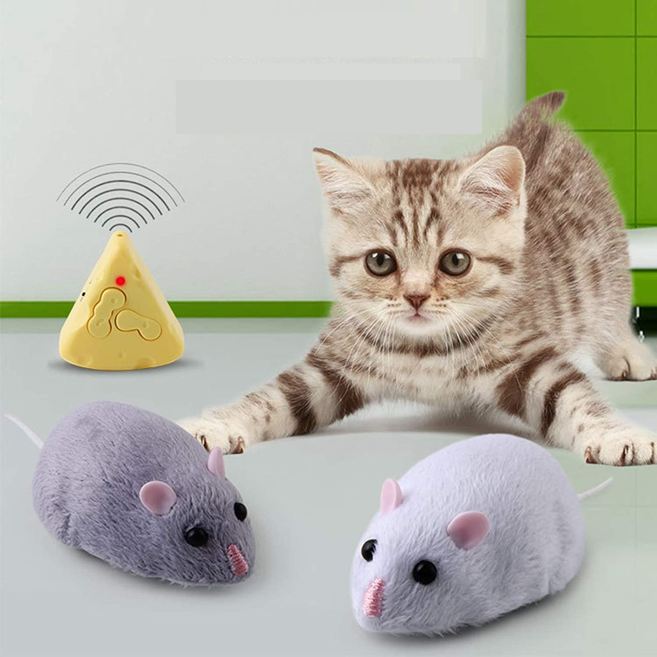 きまぐれ ねずみ 猫 おもちゃ 電動 自動 走行 ラジコン 猫用品