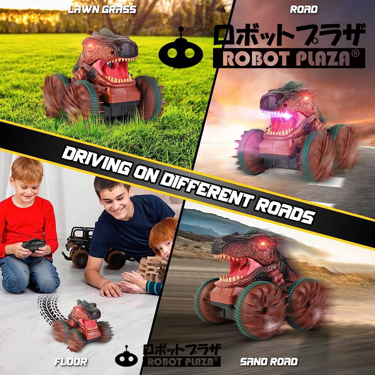 恐竜 ロボット おもちゃ ティラノサウルス  歩行 迫力 光る 咆える 鳴く