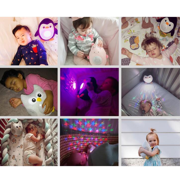 寝かしつけ ぬいぐるみ ペンギン プラネタリウム 赤ちゃん 寝かせる オルゴール ベビー キッズ メロディー 心音 おもちゃ 出産祝い