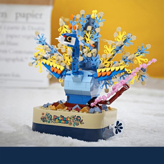 組み立て ブロック オルゴール おもちゃ 音楽ボックス 組立 癒し 立体 パズル 子供 知育 玩具