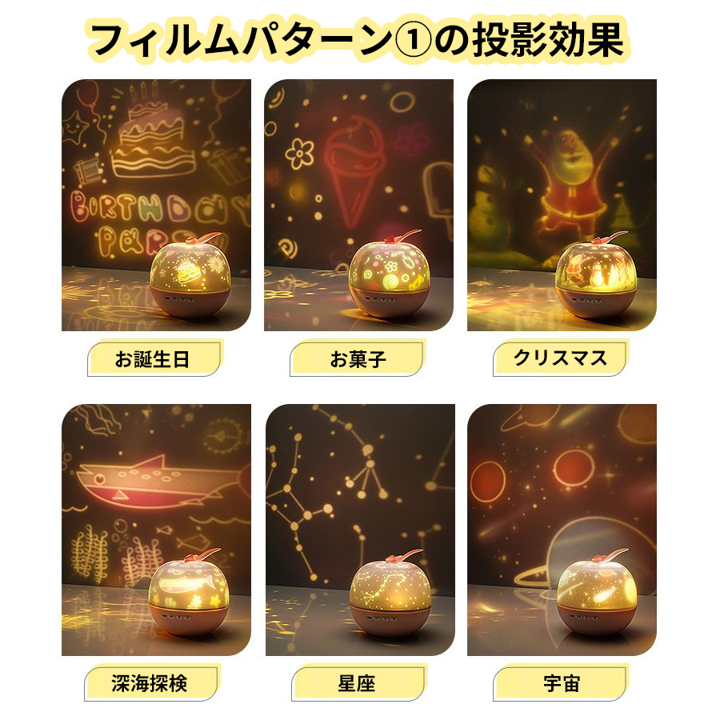 プラネタリウム プロジェクター ランプ 家庭用 子供 スタープロジェクター おもちゃ ナイトライト 常夜灯 ランプ