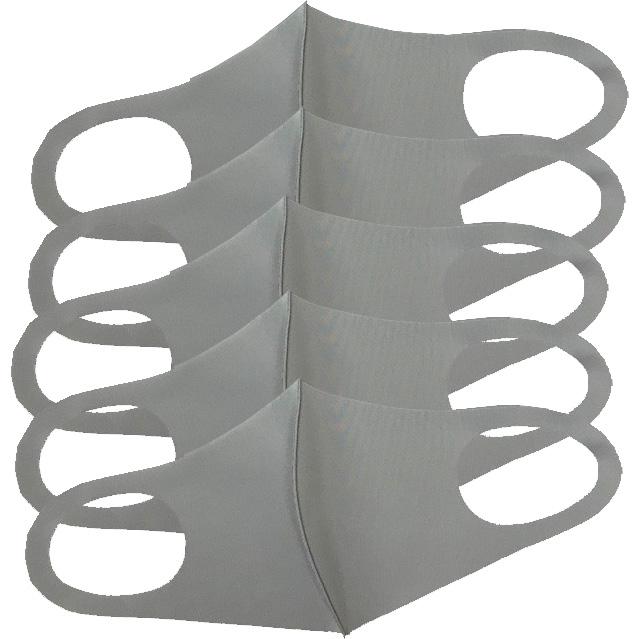 ソフトフィットクールマスク個包装5枚入り アイボリーorライトグレーorベージュ 大人用レギュラーサイズ ウォッシャブル SoftFitCoolMask ポリウレタンマスク