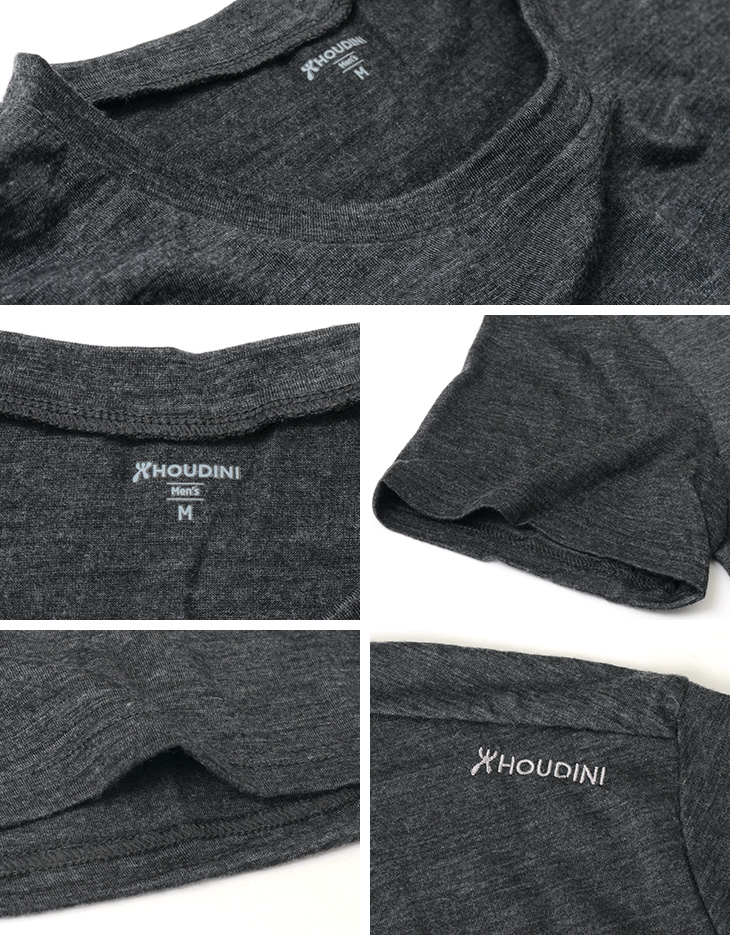 HOUDINI(フディーニ/フーディニ) メンズ アクティビスト Tシャツ / ベースレイヤー / 半袖 無地 / ドライ / アウトドア スポーツ / M's Activist Tee / クールビズ