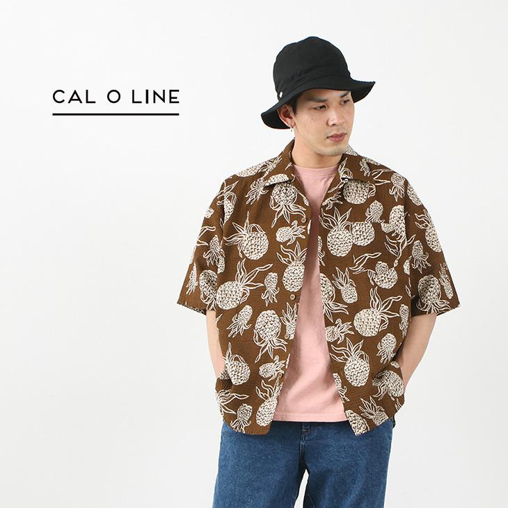 CAL O LINE(キャルオーライン) カタリナ シャツ(パイナップル柄) / メンズ / アロハ / 半袖 / ヴィンテージ / 日本製 / CL211-048P / CATALINA SHIRT (PINEAPPLE)