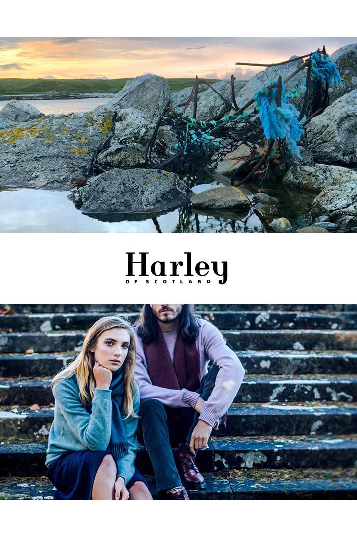 HARLEY OF SCOTLAND(ハーレーオブスコットランド) メリノ カシミヤ タートルネック ニット / メンズ レディース / 4741-5 / PORO(ROLL NECK) / MERINO WOOL90% CASHMERE10%