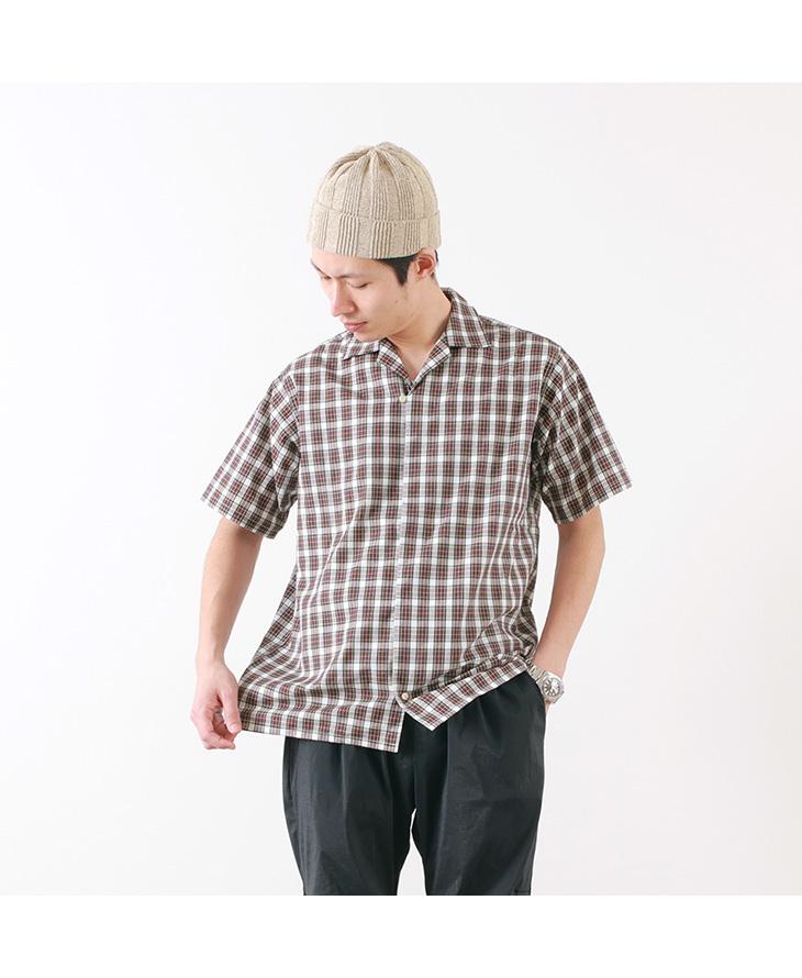【30%OFF】MELPLE(メイプル) トッパンガ オープンカラー シャツ(タータンチェック) / 半袖 / チェック / メンズ / 日本製 / TOPANGA OPEN COLLAR SHIRTS【セール】